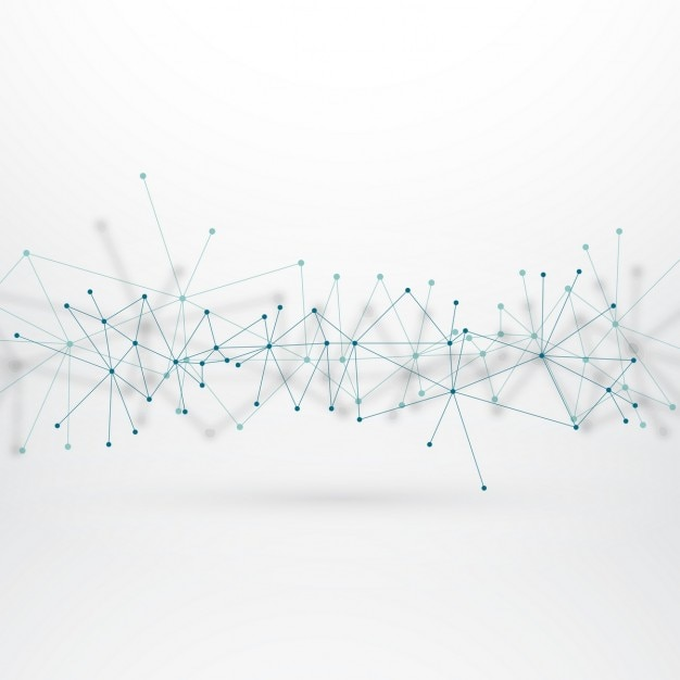 fond technologique avec des lignes connectées Vecteur gratuit