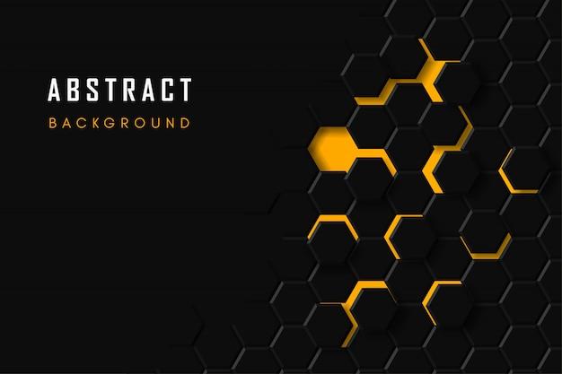 Fond technologique en nid d'abeille, hexagone géométrique abstraite Vecteur Premium