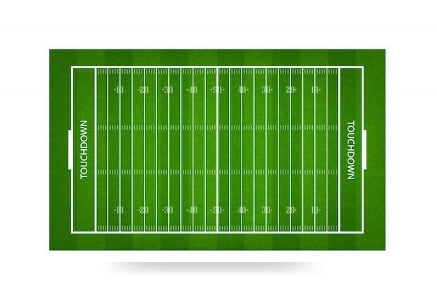 Fond de terrain de football américain. Vecteur Premium