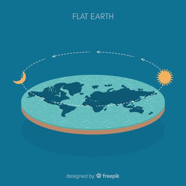 Fond de terre et d'orbite Vecteur gratuit