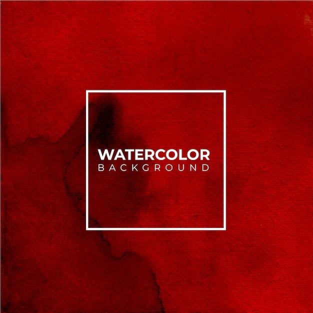 Fond De Texture Aquarelle Rouge Et Oragne, Peinture à La Main. éclaboussures De Couleur Sur Le Papier Blanc Vecteur Premium