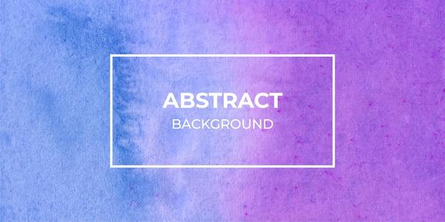 Fond De Texture Bannière Aquarelle Web Violet Et Bleu Vecteur Premium