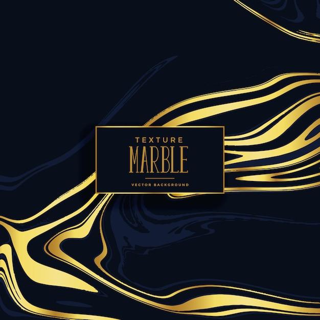 Fond de texture de marbre noir et or premium Vecteur gratuit
