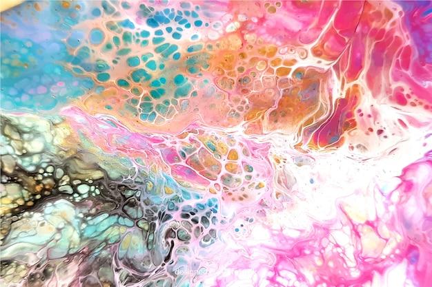 Fond de texture marbre peint coloré Vecteur gratuit