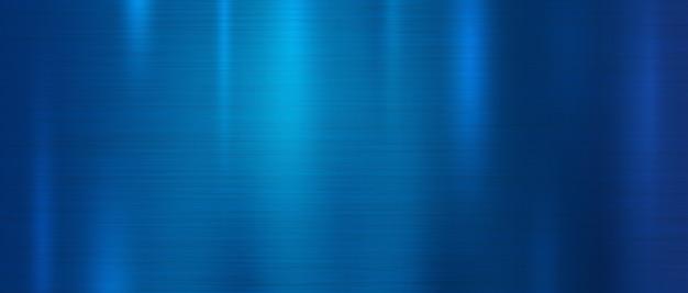 Fond de texture en métal bleu Vecteur Premium