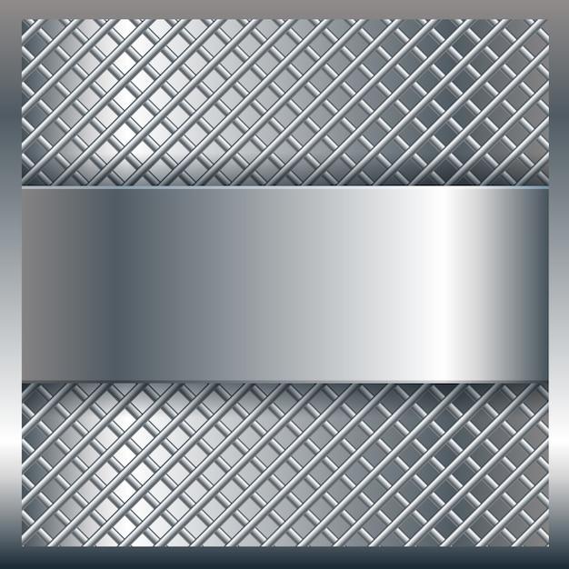 Fond de texture en métal Vecteur gratuit