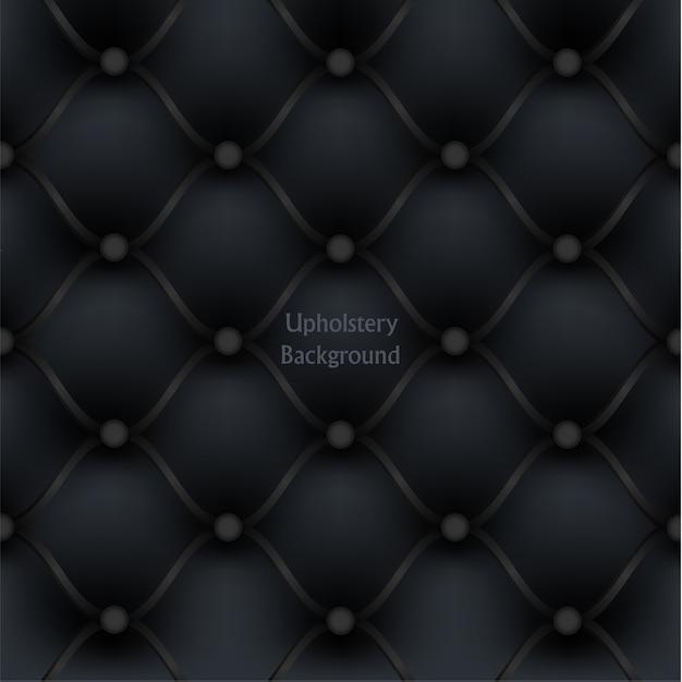 Fond Texturé De Meubles D'ameublement En Cuir Noir. Vecteur Premium