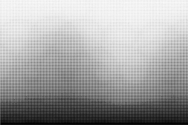 Fond de texture de points de demi-teintes noir et blanc Vecteur Premium