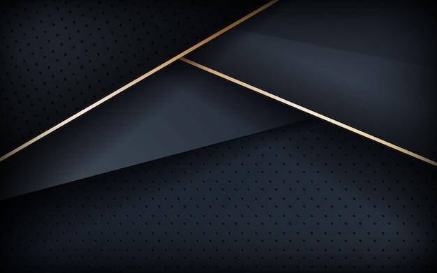 Fond texturé réaliste avec ligne dorée Vecteur Premium