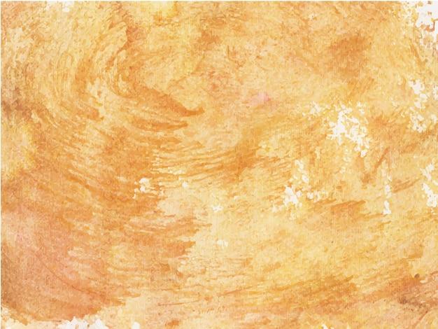 Fond De Textures Aquarelle Abstraite Orange Sur Papier Blanc Vecteur Premium