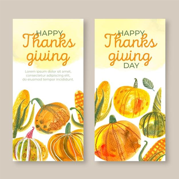 Fond De Thanksgiving Aquarelle Vecteur gratuit