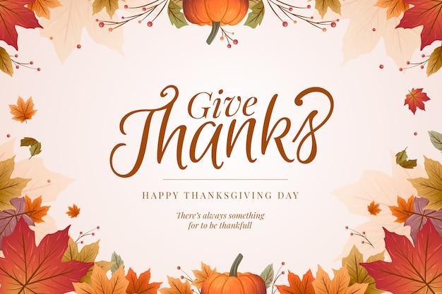 Fond de thanksgiving dessiné à la main Vecteur gratuit