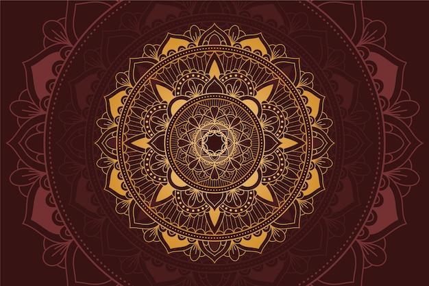 Fond Avec Thème Mandala De Luxe Vecteur gratuit