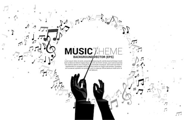 Fond De Thème De Musique Vecteur Premium