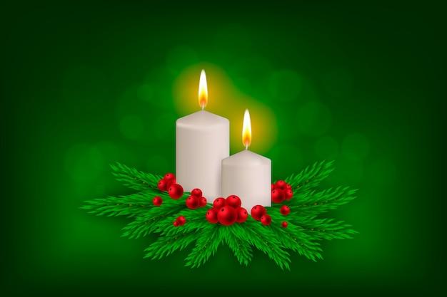 Fond Avec Thème De Noël Vecteur gratuit