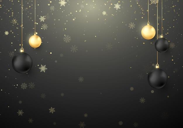 Fond Sur Le Thème De Noël Vecteur Premium