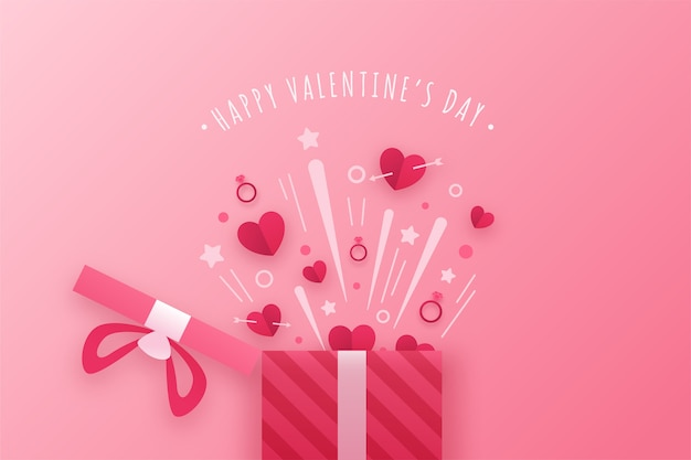 Fond Avec Thème Saint Valentin Vecteur gratuit