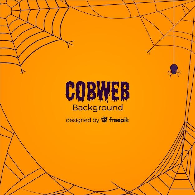 Fond de toile d'araignée effrayant Vecteur gratuit