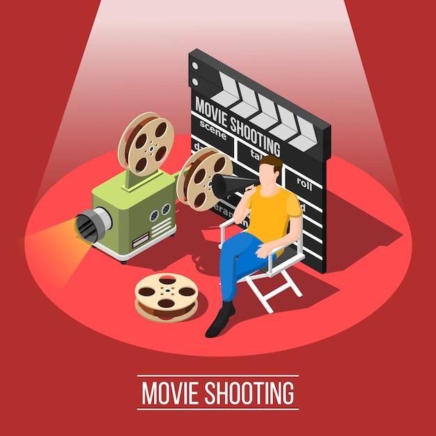 Fond De Tournage De Film Vecteur gratuit