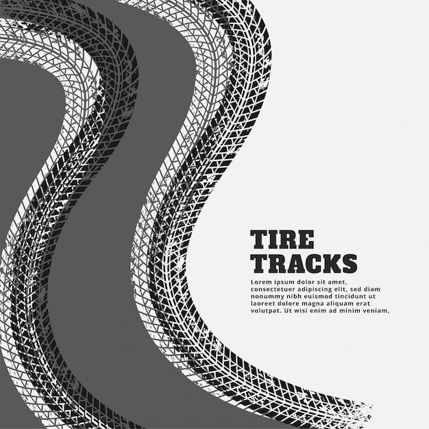 Fond de traces d'impression des traces de pneus Vecteur gratuit
