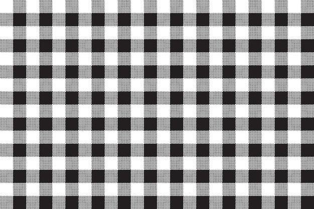 Fond transparent de checkerboard blanc noir Vecteur Premium