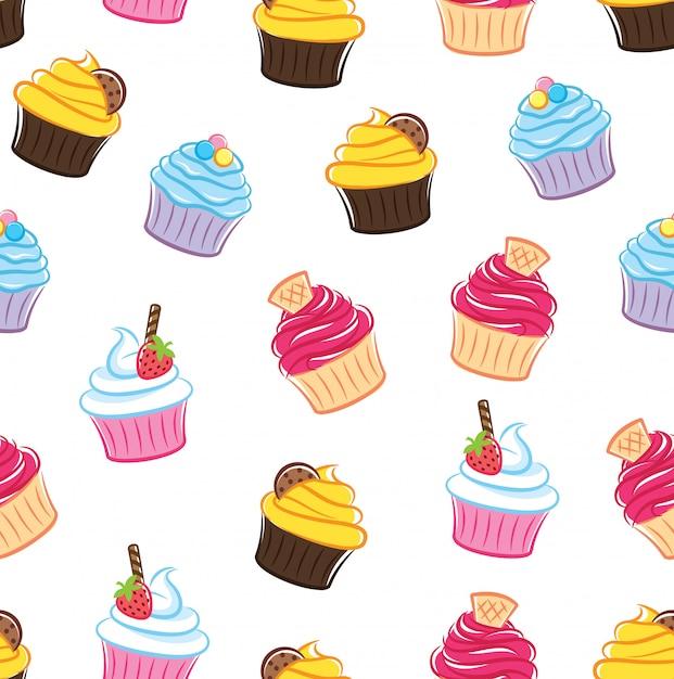 Fond transparent de petit gâteau Vecteur Premium