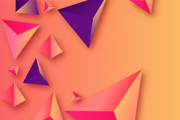 Fond De Triangle Avec Des Couleurs Intenses Vecteur gratuit