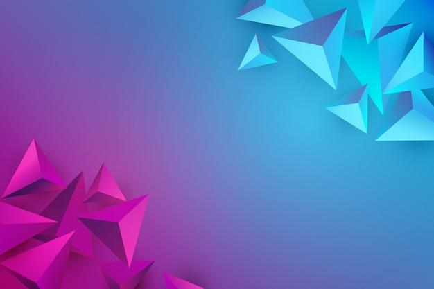 Fond De Triangle Avec Des Couleurs Vives Vecteur gratuit