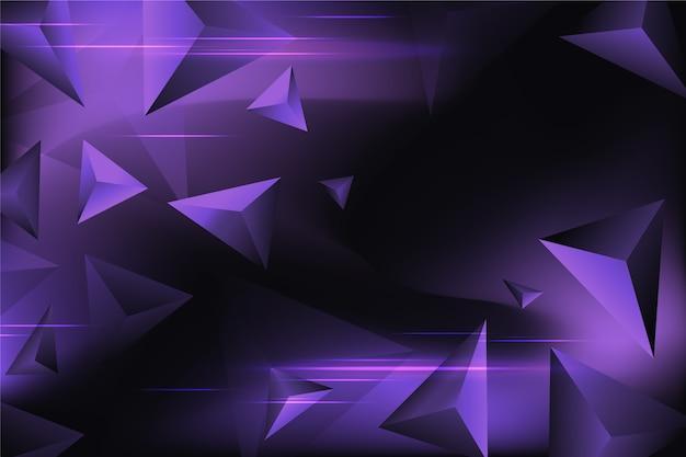 Fond De Triangle Violet Vecteur gratuit