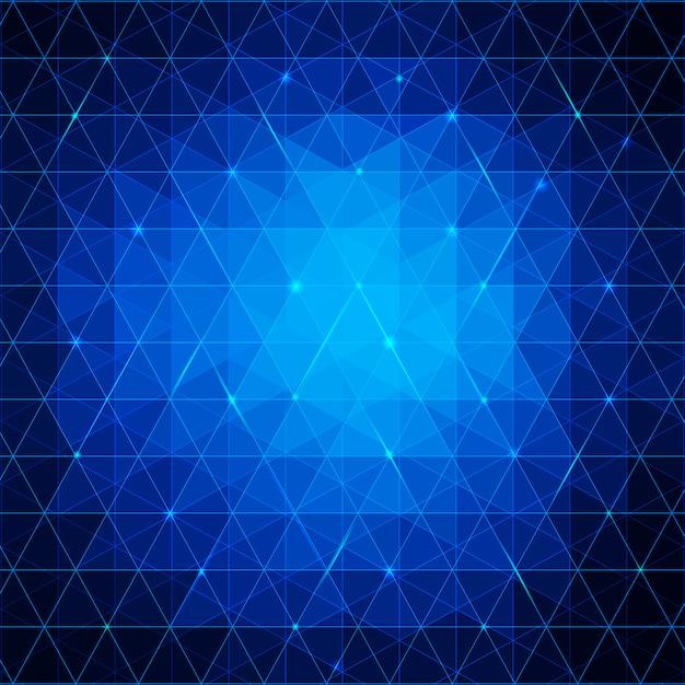 Fond de triangles abstraits bleus pour votre entreprise Vecteur Premium