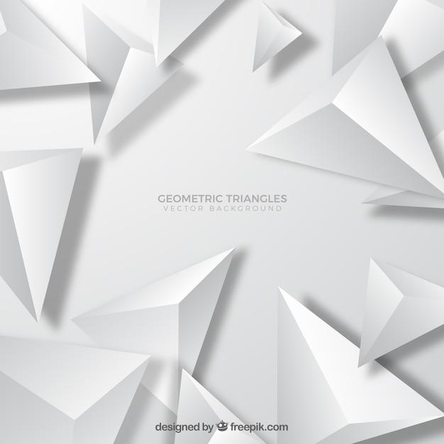 Fond De Triangles Géométriques Vecteur gratuit