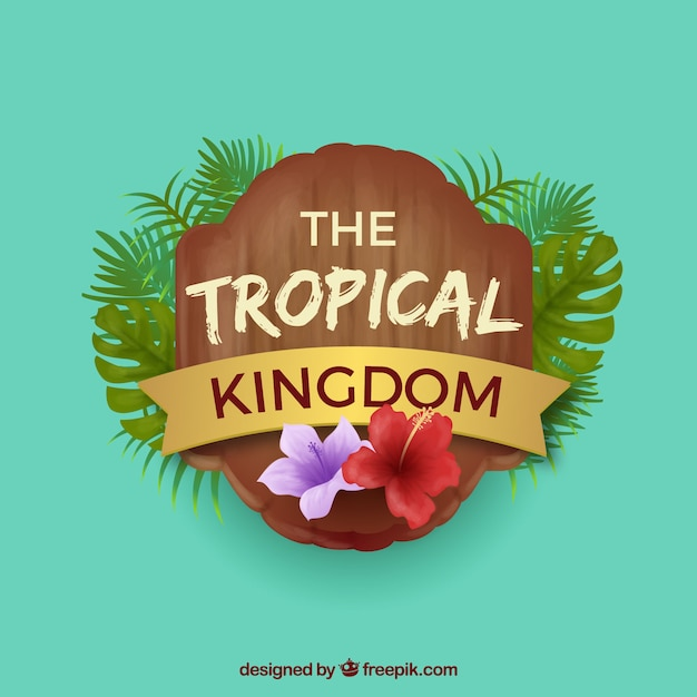 Fond tropical moderne avec un design réaliste Vecteur gratuit