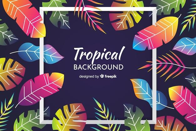 Fond tropical Vecteur gratuit