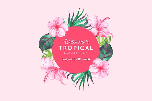Fond tropical Vecteur gratuit