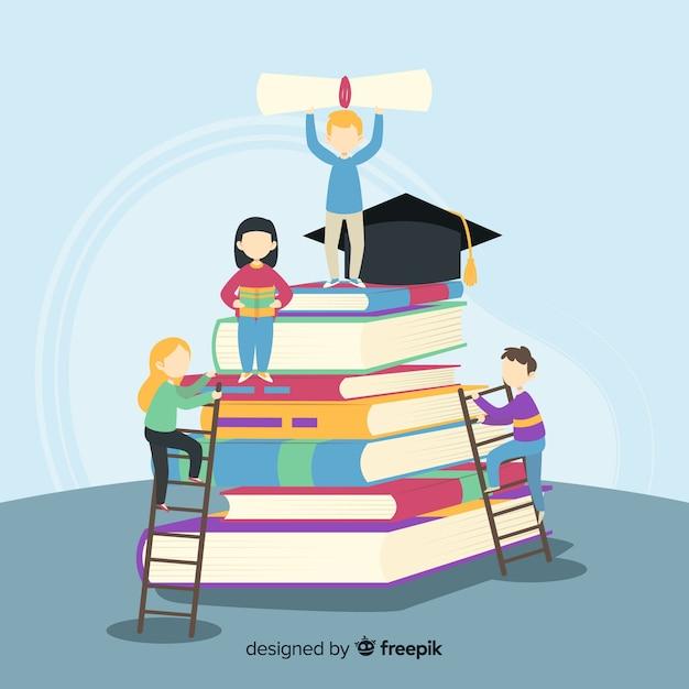 Fond universitaire plat Vecteur gratuit