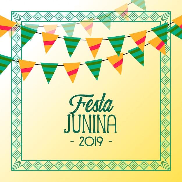 Fond de vacances 2019 festa junina Vecteur gratuit