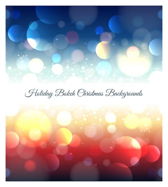 Fond De Vacances Abstrait Bokeh De Noël. Effet Lumière Floue, Couleur Défocalisée, Motif Brillant, Vecteur gratuit