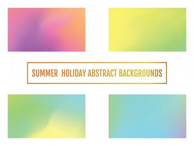 Fond de vacances d'été, abstrait Vecteur Premium