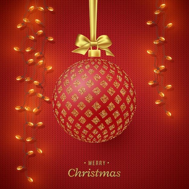Fond De Vacances De Noël. Vecteur Premium