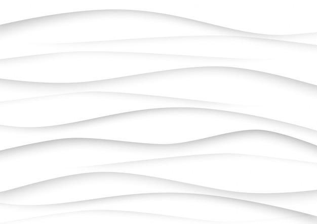 Fond De Vague Abstrait Blanc Et Gris Vecteur Premium