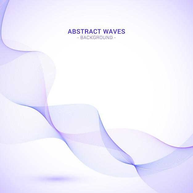 Fond De Vague Abstrait Violet Vecteur gratuit