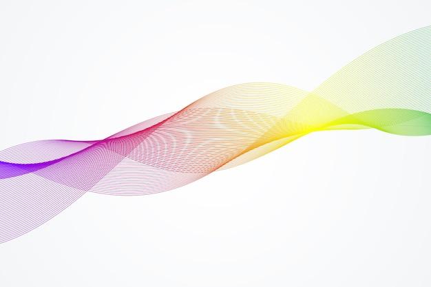 Fond De Vague Abstraite. Modèle Géométrique Pour Votre Brochure De Conception, Flyer, Rapport, Site Web, Bannière. Illustration Vectorielle. Vecteur Premium
