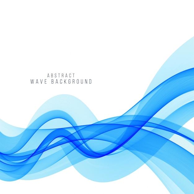 Fond de vague bleue élégante moderne Vecteur gratuit