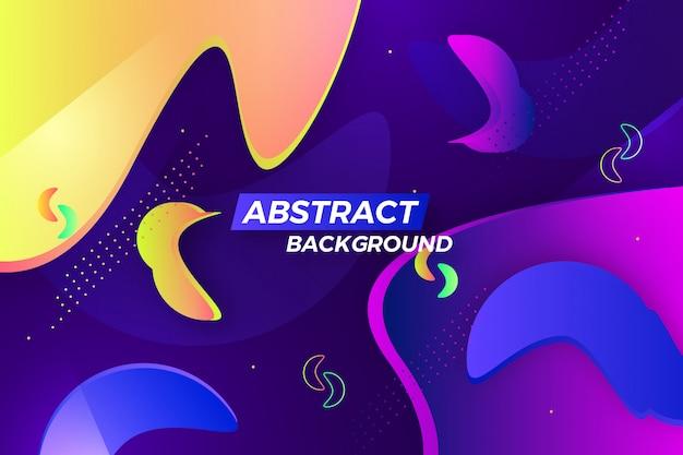 Fond de vague colorée abstraite créative Vecteur Premium