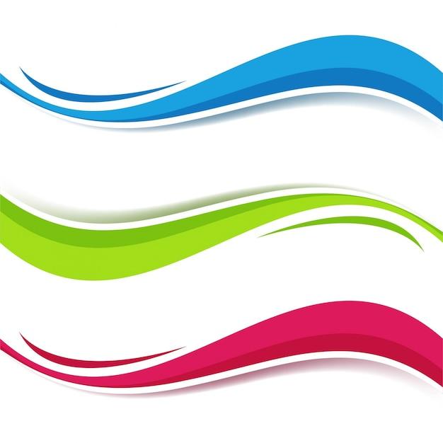 Fond De Vague Colorée Moderne Vecteur gratuit