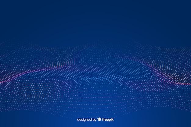 Fond de vague de grille fractale rougeoyante Vecteur gratuit