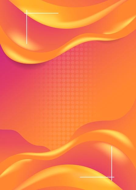 Fond de vague orange Vecteur gratuit