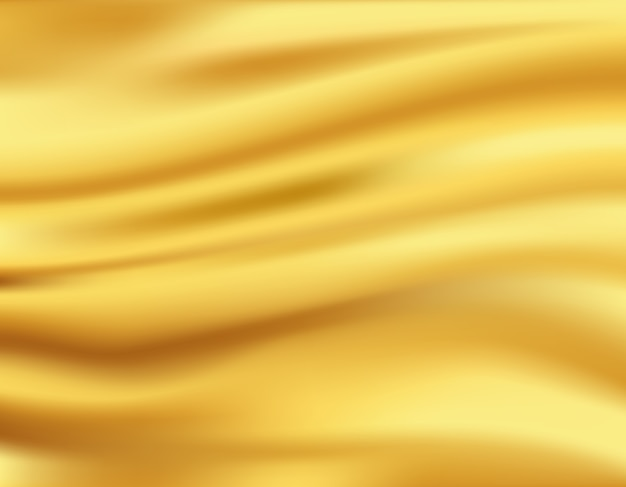 Fond De Vagues D'or Vecteur gratuit