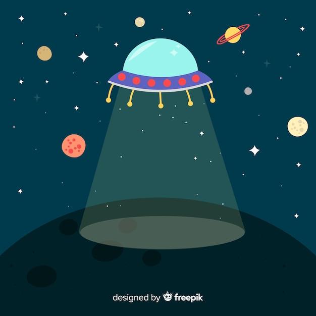 Fond de vaisseau spatial Vecteur gratuit
