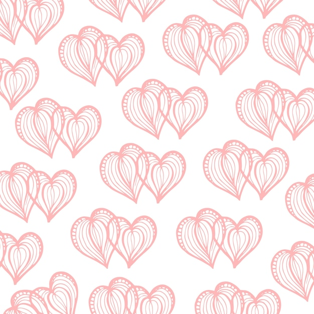 Fond de valentine dessiné à la main Vecteur gratuit